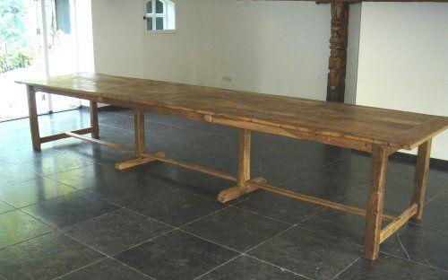 Antieke oude lange tafel kloostertafel boerentafel leeftafel