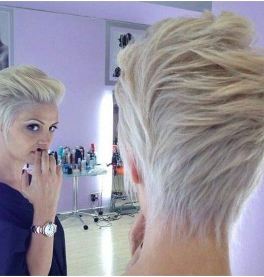 Short Hairstyles 2015 Glamorous Platinum Blond Short Haircuts 2015 For Women  Short Haircuts Blond