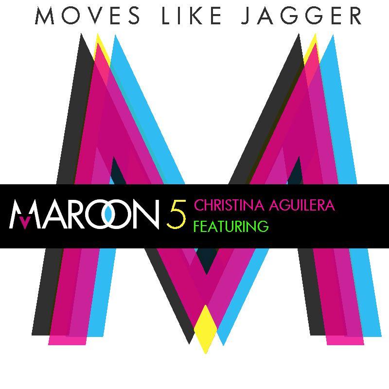 Maroon 5, Christina Aguilera – Moves Like Jagger (single cover art)