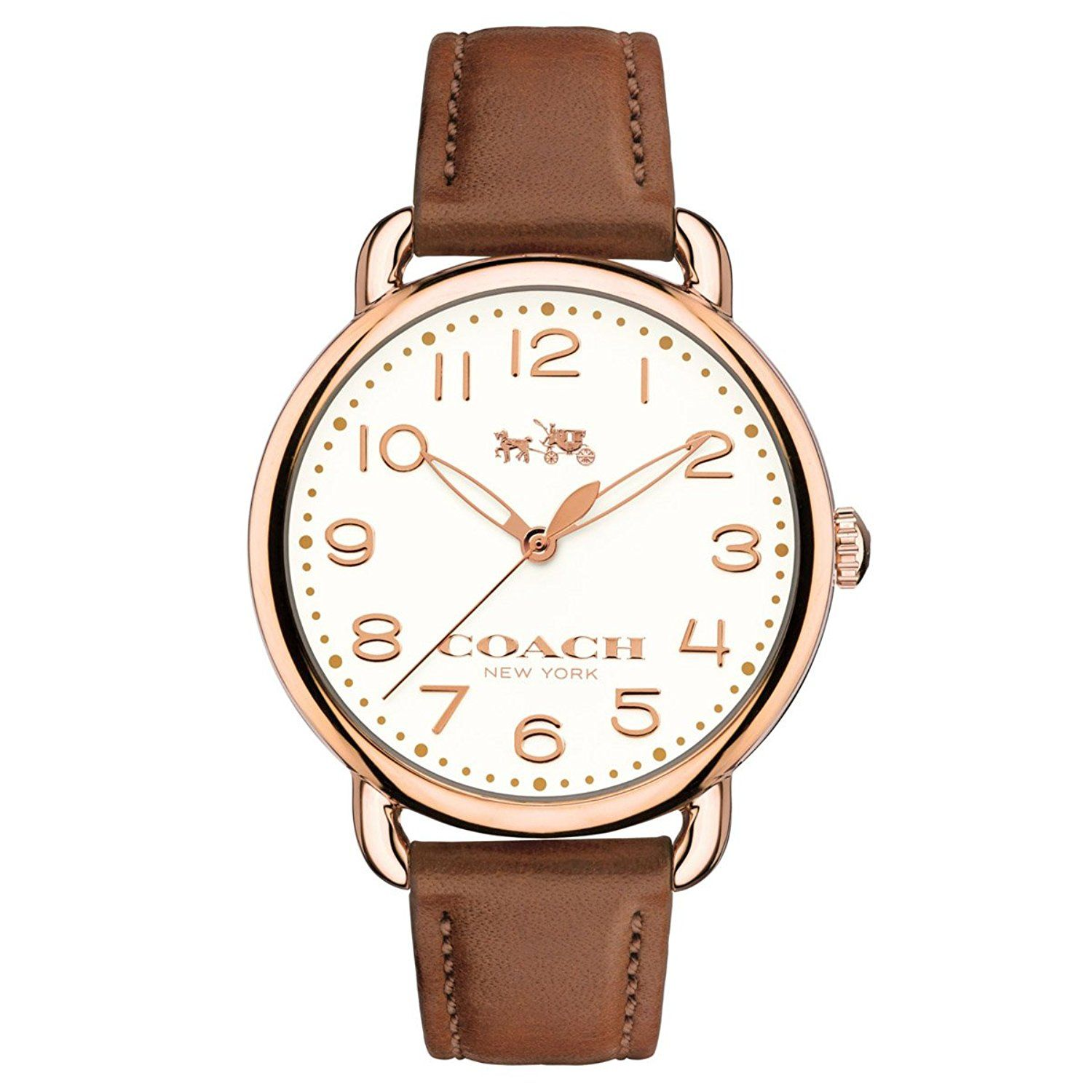 608cb5d82 COACH Women's Delancey 36mm Leather Strap Watch Chalk/Russet Watch --  Additional details at the pin image, click it