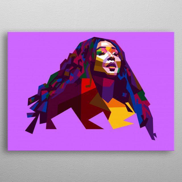 Lizzo by baturaja vector | metal posters - Displate | Displate - | Displate thumbnail