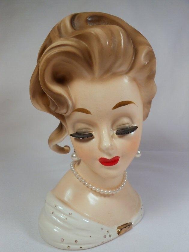 Fabulous Vintage Inarco Headvase Head Vase E 1067 Large 7 18