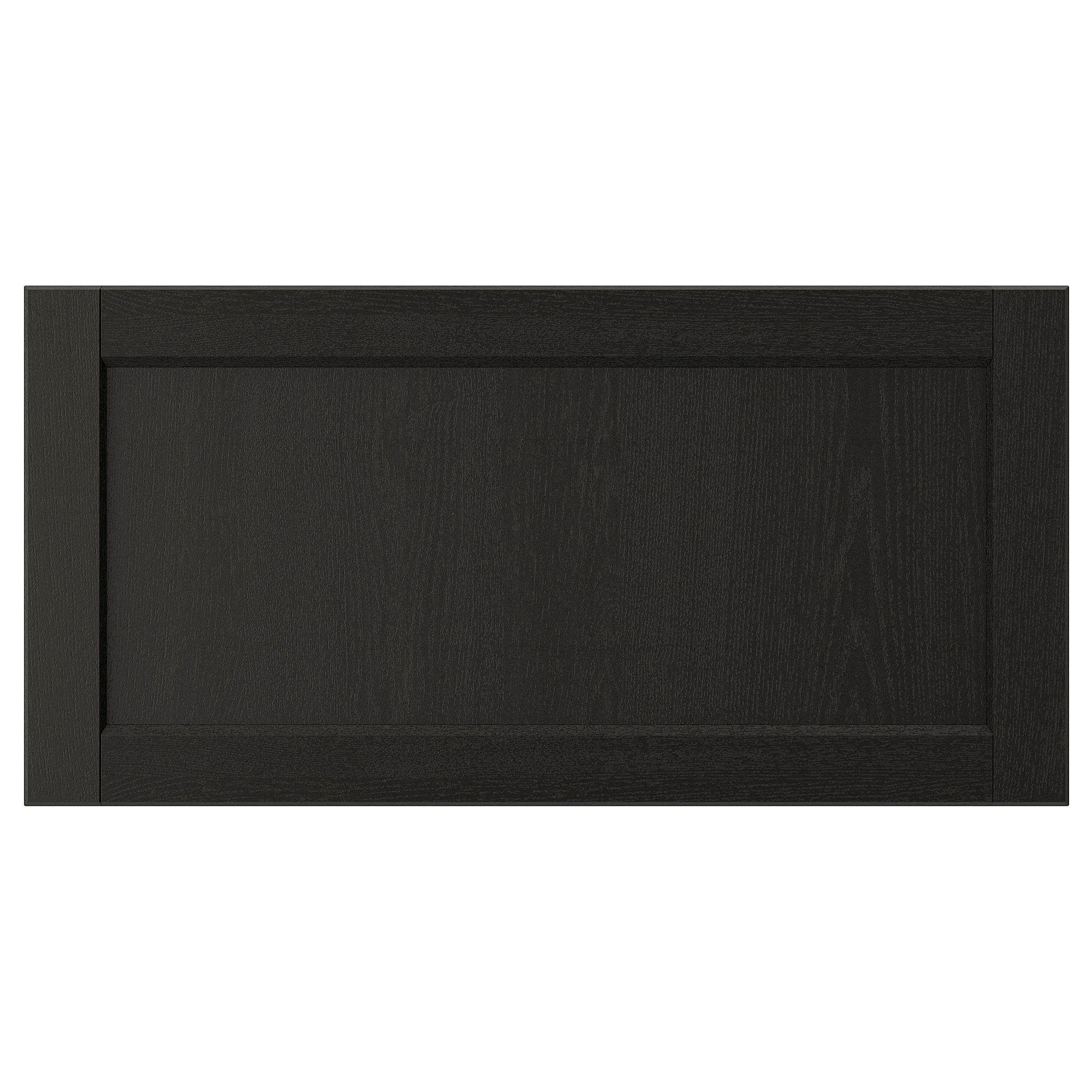 LERHYTTAN black stained, Drawer front