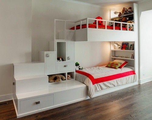 Letti A Castello Per 3 Bambini.Mommo Design Bunks For Boys Part 3 Idee Letto Camerette E