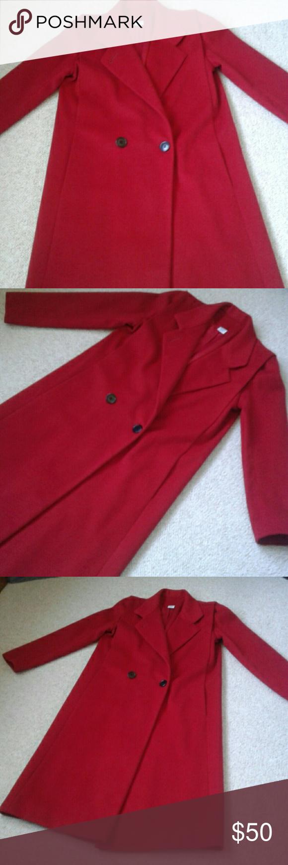 Vintage Gallery Full Length Wool Coat Vintage coat, Red