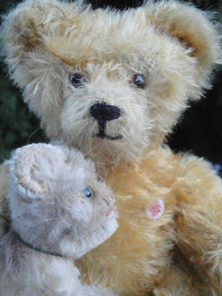 ANTIQUE TEDDY BEAR PETZ KIESEWETTER 50s LONG MOHAIR