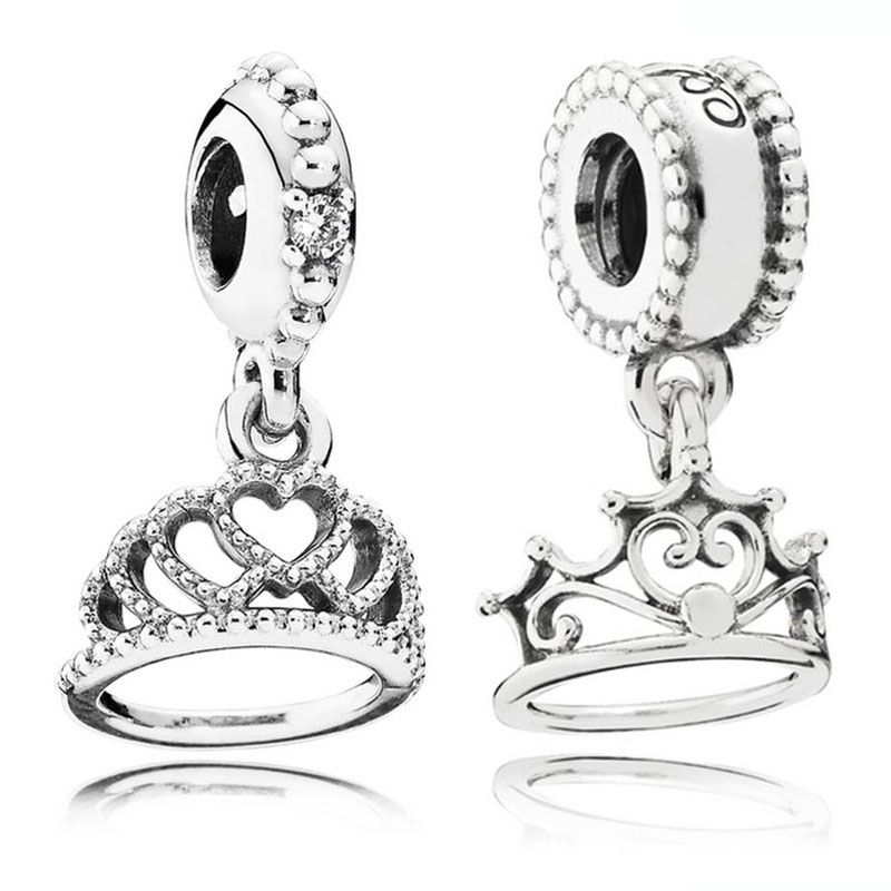 Beads & Jewelry Making New 925 Sterling Silver Bead Charm Love Heart My Princess Tiara Royal Crown Pendant Bead Fit Pandora Bracelet Bangle Diy Jewelry