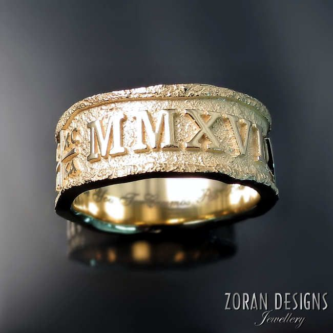 Unique custom made wedding rings by Zoran Designs Jewellery