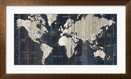 Old world map blue prints by hugo wild allposters quadros old world map blue prints by hugo wild allposters gumiabroncs Images