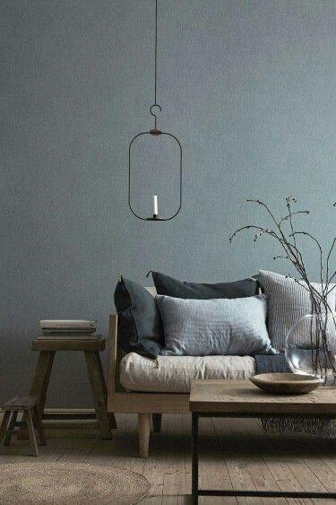 Koele Tonen, Maar Toch Een Warm Interieur · Cool Living Room IdeasLiving  Room Decor BlueGrey Couch ...