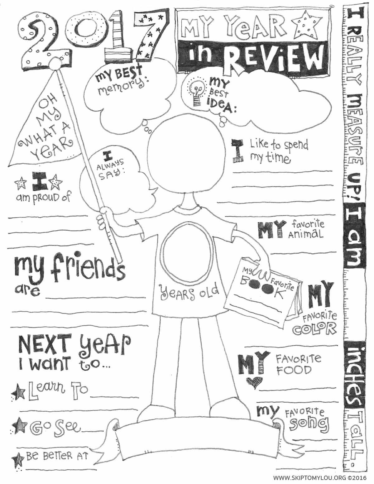 2018 Year In Review Coloring Page Updated My Other Job New