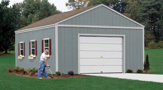 This 16x24 shed is the perfect solution to big storage problems