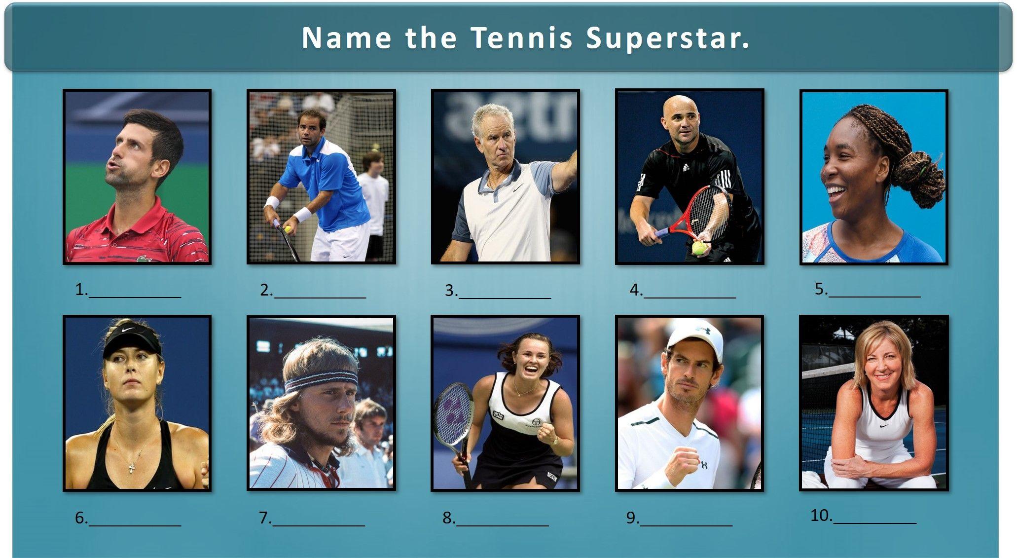 Tennis Superstars Picture Round Quiz Logo Quiz Answers Trivia Night Questions Logo Quiz