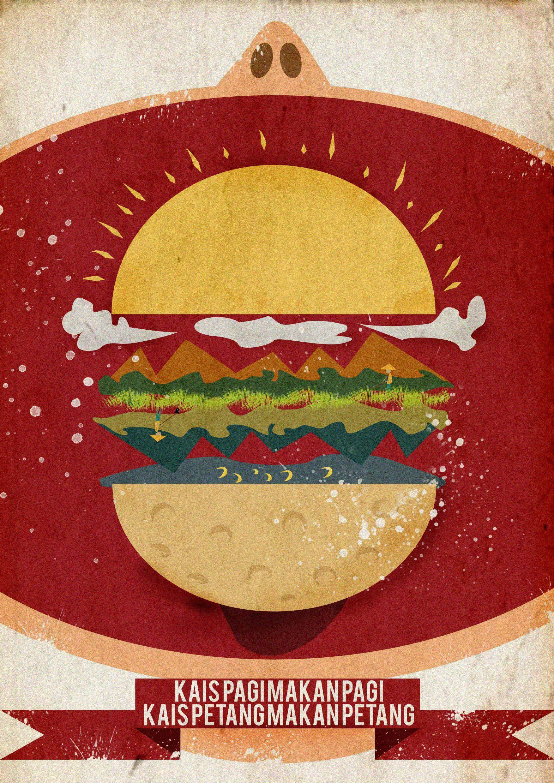 Kais Pagi Makan Pagi Kais Petang Makan Petang Tapi Sekarang Orang Lain Yang Makan Apa Yang Kita Usahakan Illustration It Works Tang