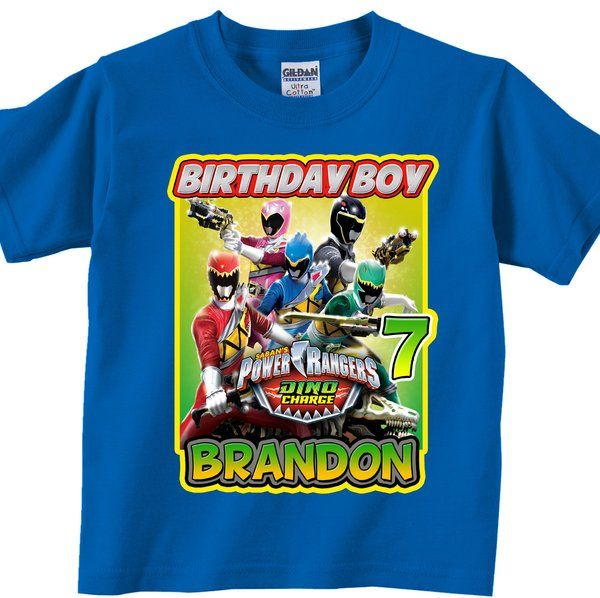 power rangers dino birthday boy shirt custom