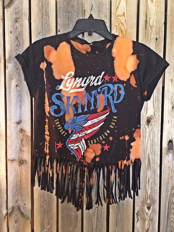 08843e2b3f2 Lynyrd Skynyrd bleached tie dyed shirt