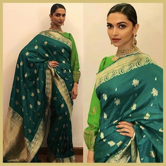 Deepika Padukone in Sailesh Singhania saree, Padmavati ...
