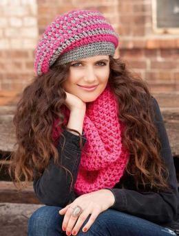 9780d211d04 Free crochet pattern- women s slouch beanie   scarf