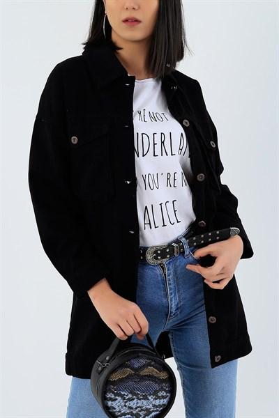 79 95 Tl Siyah Gabardin Uzun Yazlik Bayan Ceket 27099b Modamizbir 2020 Kot Ceket Mankenler Moda