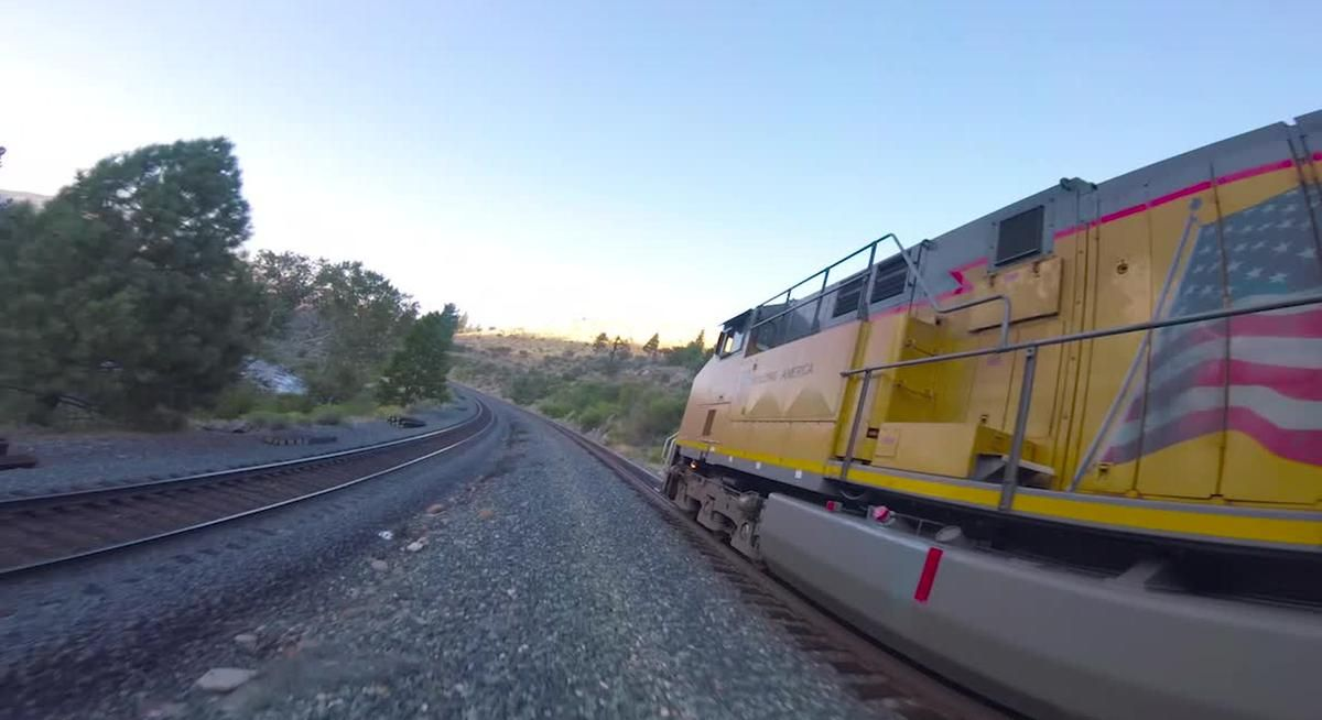 Watch A Master Drone Operator Do Zig Zags Above And Below A Moving Train - Digg