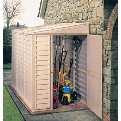 Duramax Building Products Sidemate 4 ft. x 8 ft. Vinyl Shed with Foundation & Duramax Building Products Sidemate 4 ft. x 8 ft. Vinyl Shed with ...
