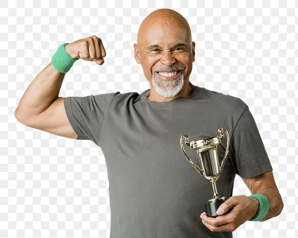Happy Senior Man Holding A Trophy Cup Premium Image By Rawpixel Com Mckinsey Trophy Cup Man Trophy