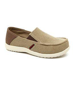 Crocs Shoes Crocs Santa Cruz Loafer Boys Casual Shoes Khaki Espresso