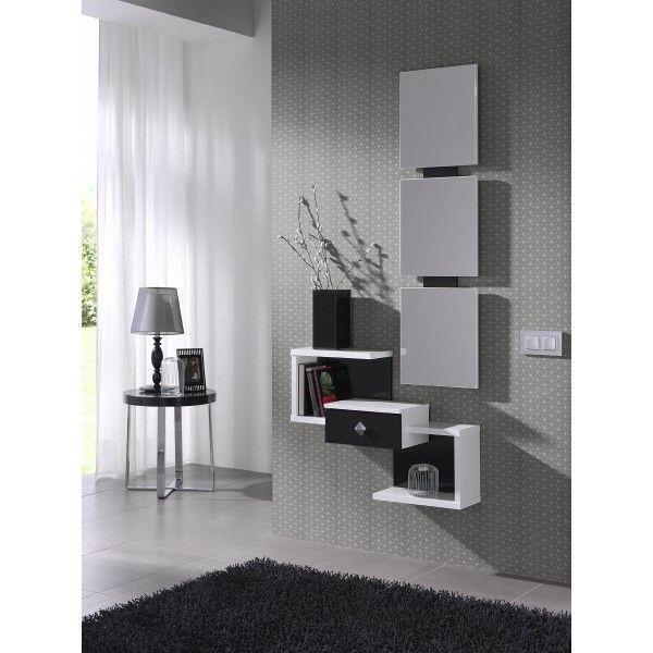 Mueble de entrada con espejo varios colores - Colores para recibidores ...