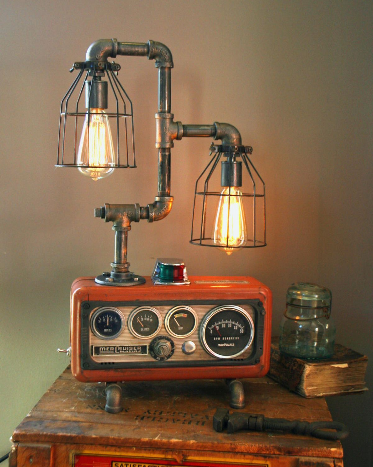 18 Gorgeous Steampunk Machine Age Lamps Maybe I Could Make Something Like This Out Of Things From Garage S Pvc Pipes