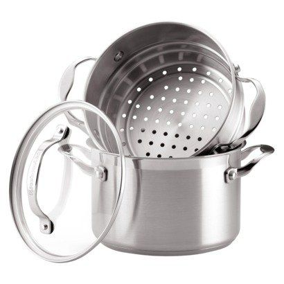 Kitchenaid 3 Quart Covered Sauce Pot And Steamer Insert Are Made Of Stainless Steel Kitchen Aid Sauce Pot Vegetable Steamer