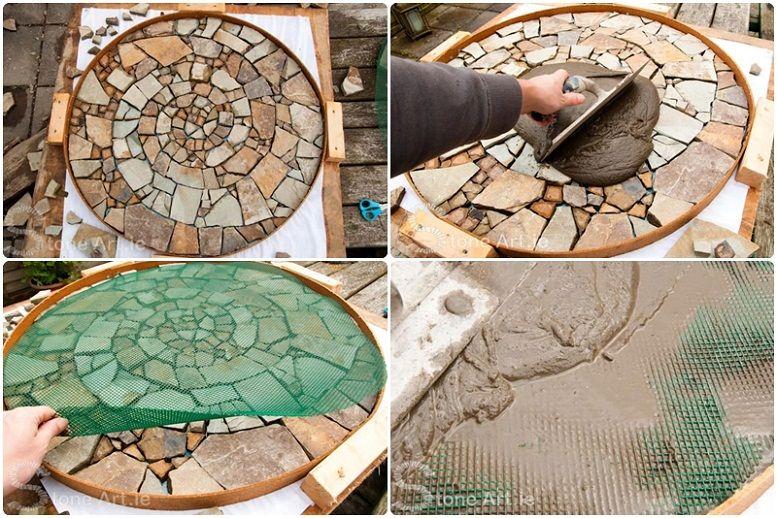 Doğal Taş Mozaik Nasıl Yapılır? | Çevreci Bahçem | Mozaic sanatı, Mozaik,  Sanat