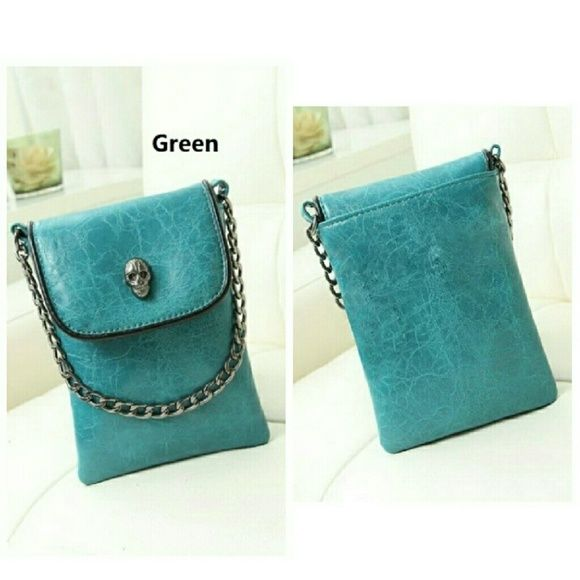 Mini Punk Skull Purse Material: PU Leather   Size: 13cm*3cm*16cm (approx) New. Bags Crossbody Bags