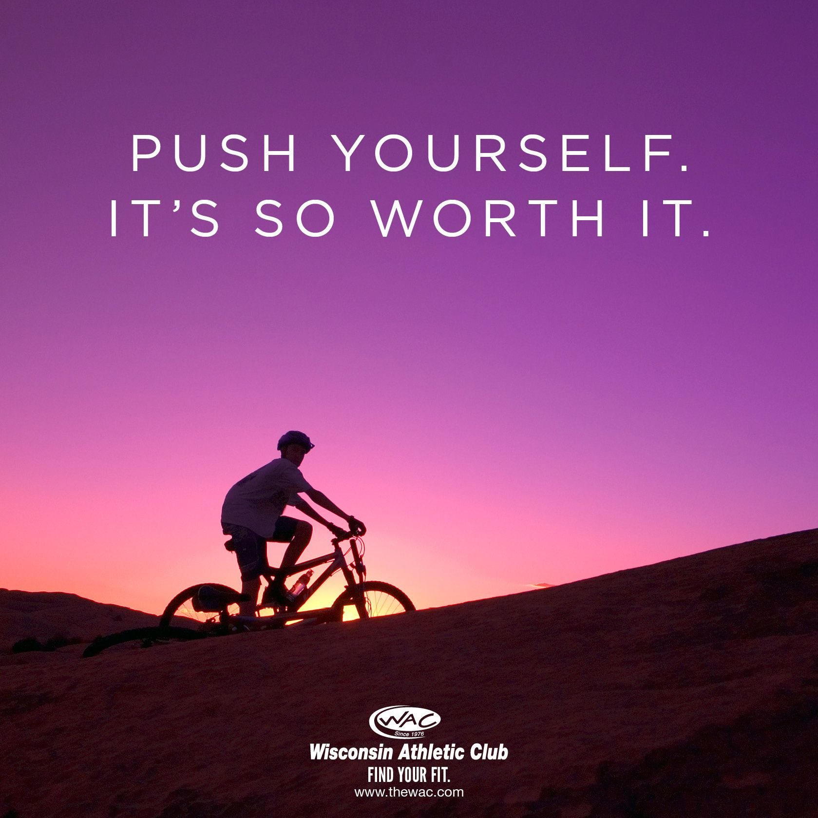 Push yourself. It's so worth it. TheWAC FindYourFit