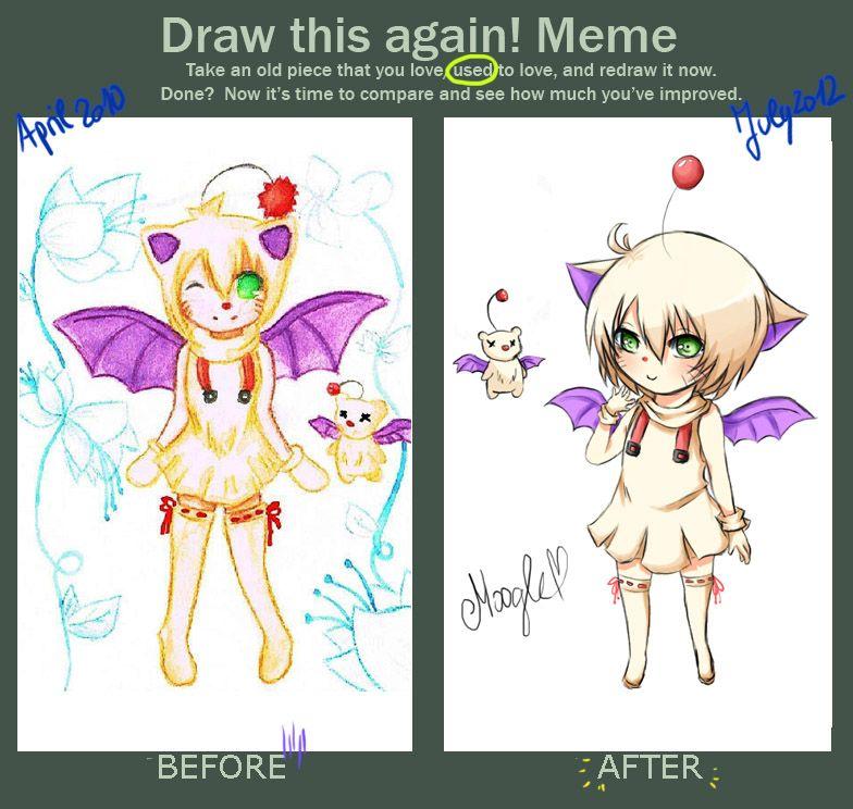 Draw This Again Meme Moogle Gijinka By Kida Kun Deviantart Com