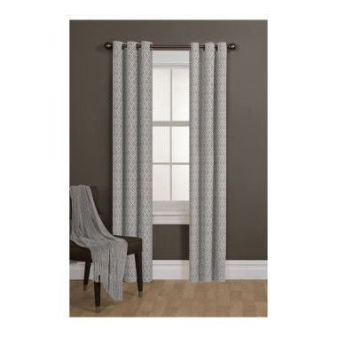 Comfort Bay Tempo Grey Curtain Panel Dollar General Curtains