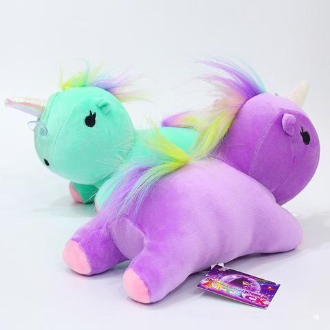 Rainbow Unicorn Pendants Keychain Lovely Baby Mini Doll ...