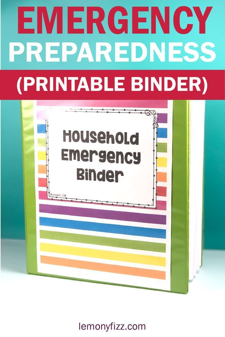 Create your own family emergency binder quick and easy