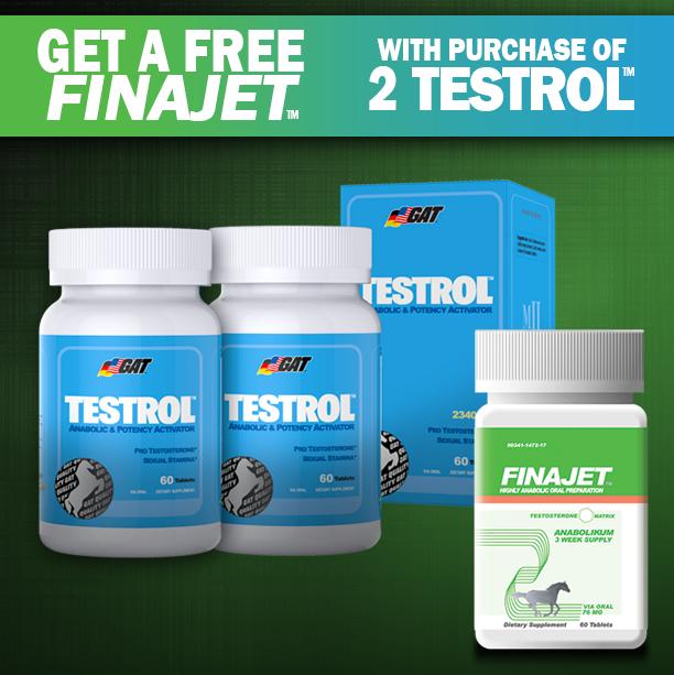 ULTIMATE TESTOSTERONE STACK: Buy 2 GAT Testrol, get a free Finajet! http://suppz.com/gat-testrol-twinpack-free-finajet.html