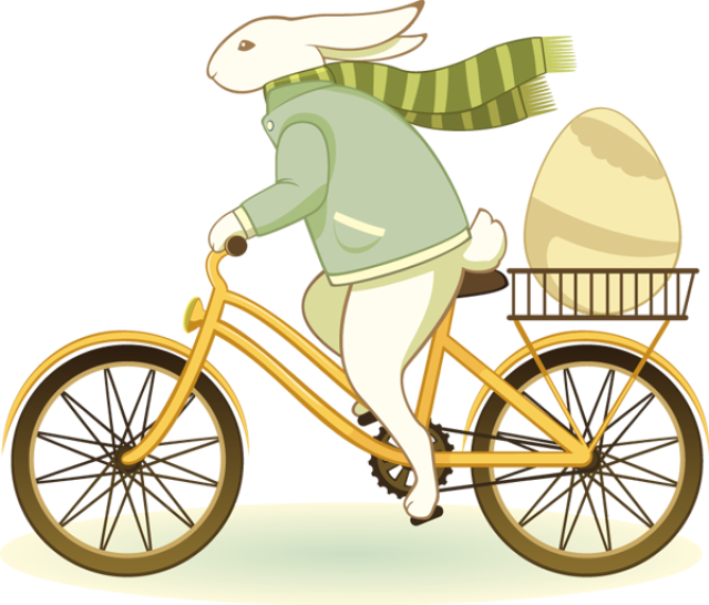 12 Free Easter Clip Art Designs Bicycle Delivery Bunny