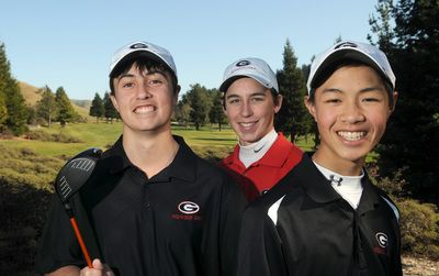 Prep boys golf: Redwood's junior trio is out to win its third consecutive title - Marin Independent Journal