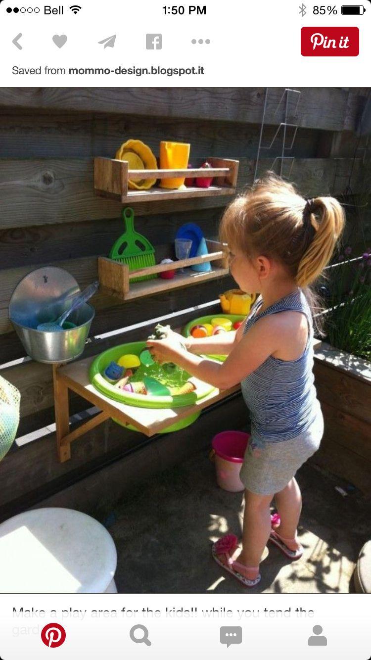outdoor sink kids outside play pinterest spielecke g rten und kinderspiele. Black Bedroom Furniture Sets. Home Design Ideas