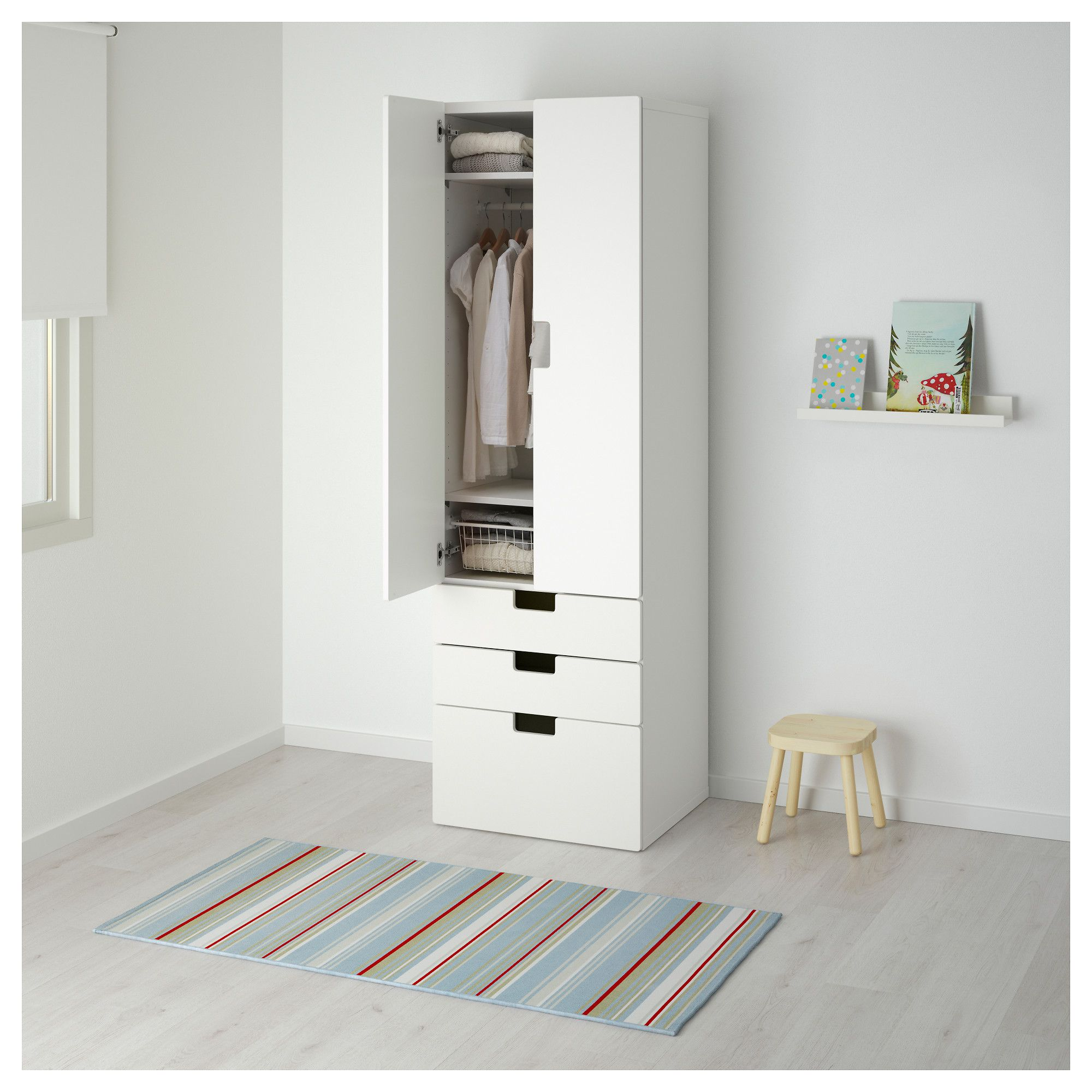 IKEA STUVA Storage bination w doors drawers White black