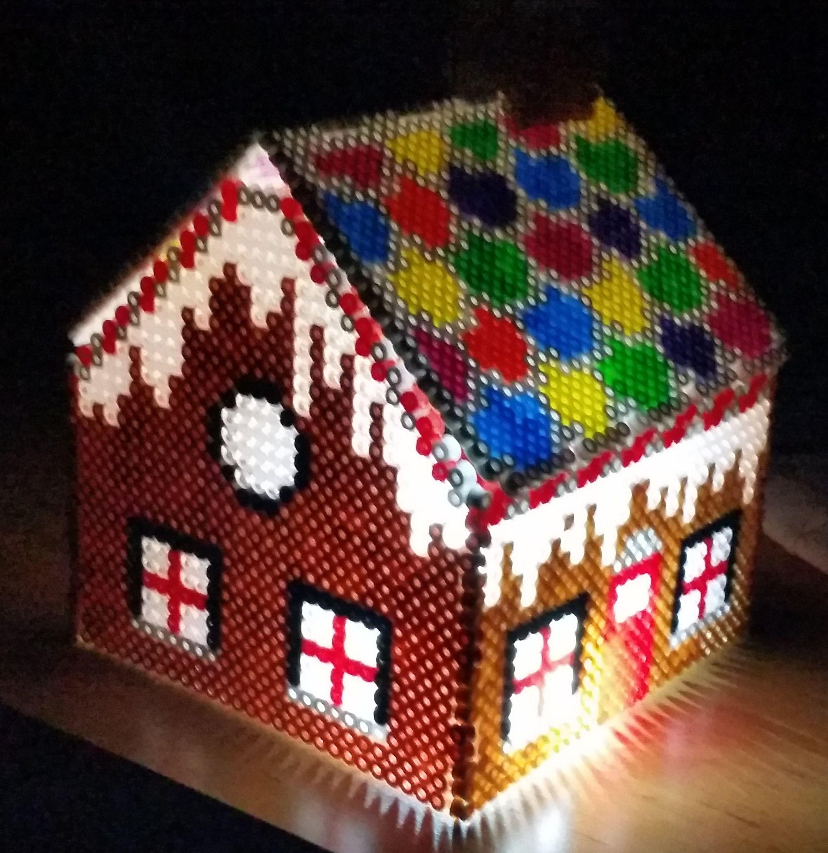 Haus mit Licht 02 5mm Bügelperlen | 3D Hama - Artkal - Beads ...
