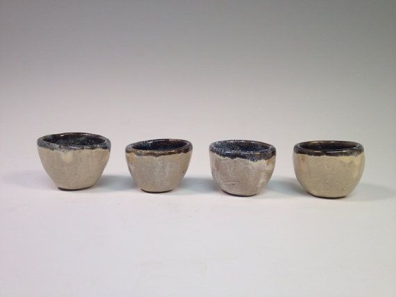 Sake Set with four cups by TheClayCache on Etsy