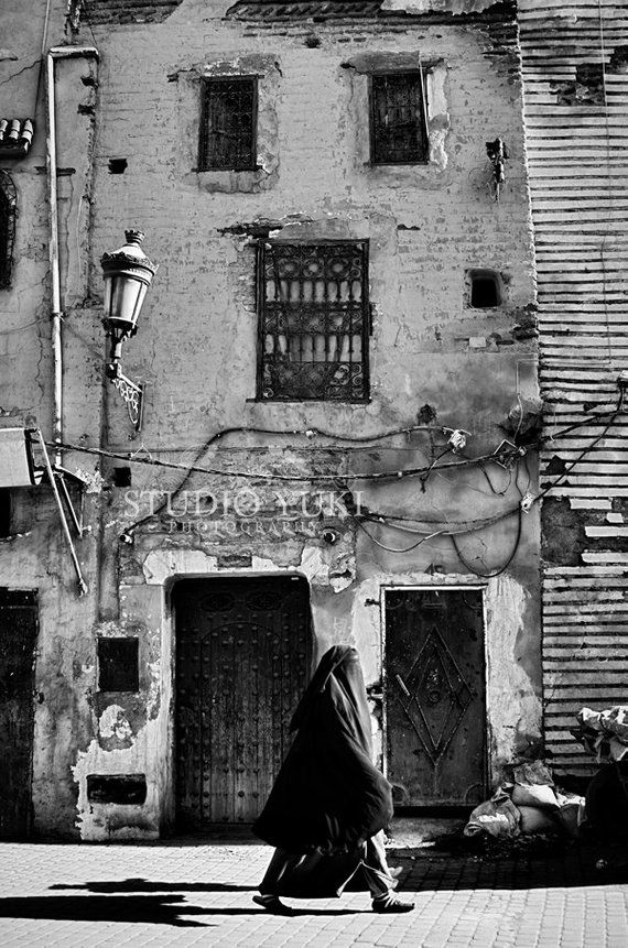 eebd1e6bf9cc Travel Photo Morocco, Black and White, Old Building, Urban Decay ...
