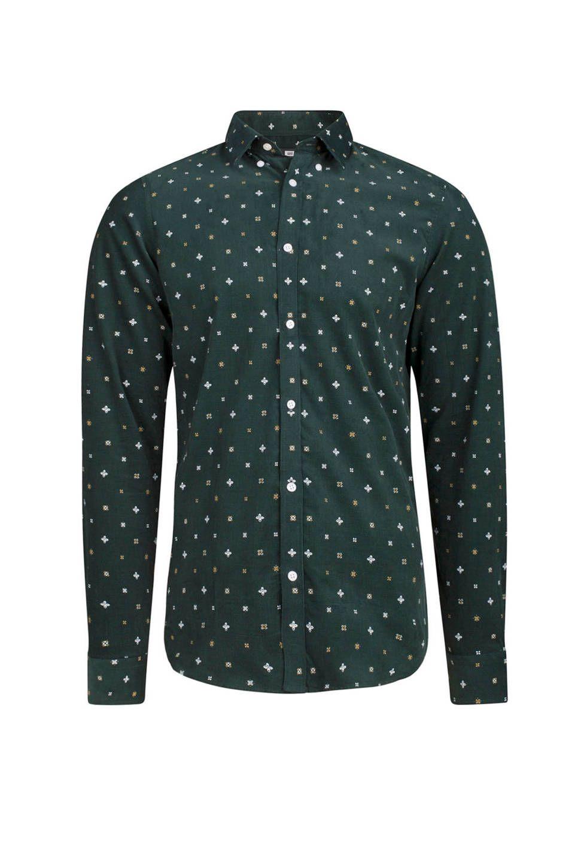 Overhemd We.We Fashion Slim Fit Overhemd Met Print Groen Herenmode Shirts