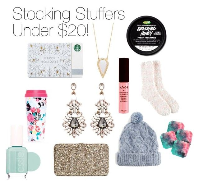 stocking stuffers by mara-arnold on Polyvore featuring Merona, Forever 21, Target, NYX, Essie, DENY Designs and ban.do