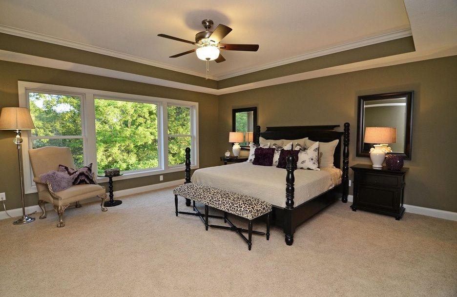 Benjamin moore hc101 hampshire gray interior colors for Bedroom tray ceiling paint ideas