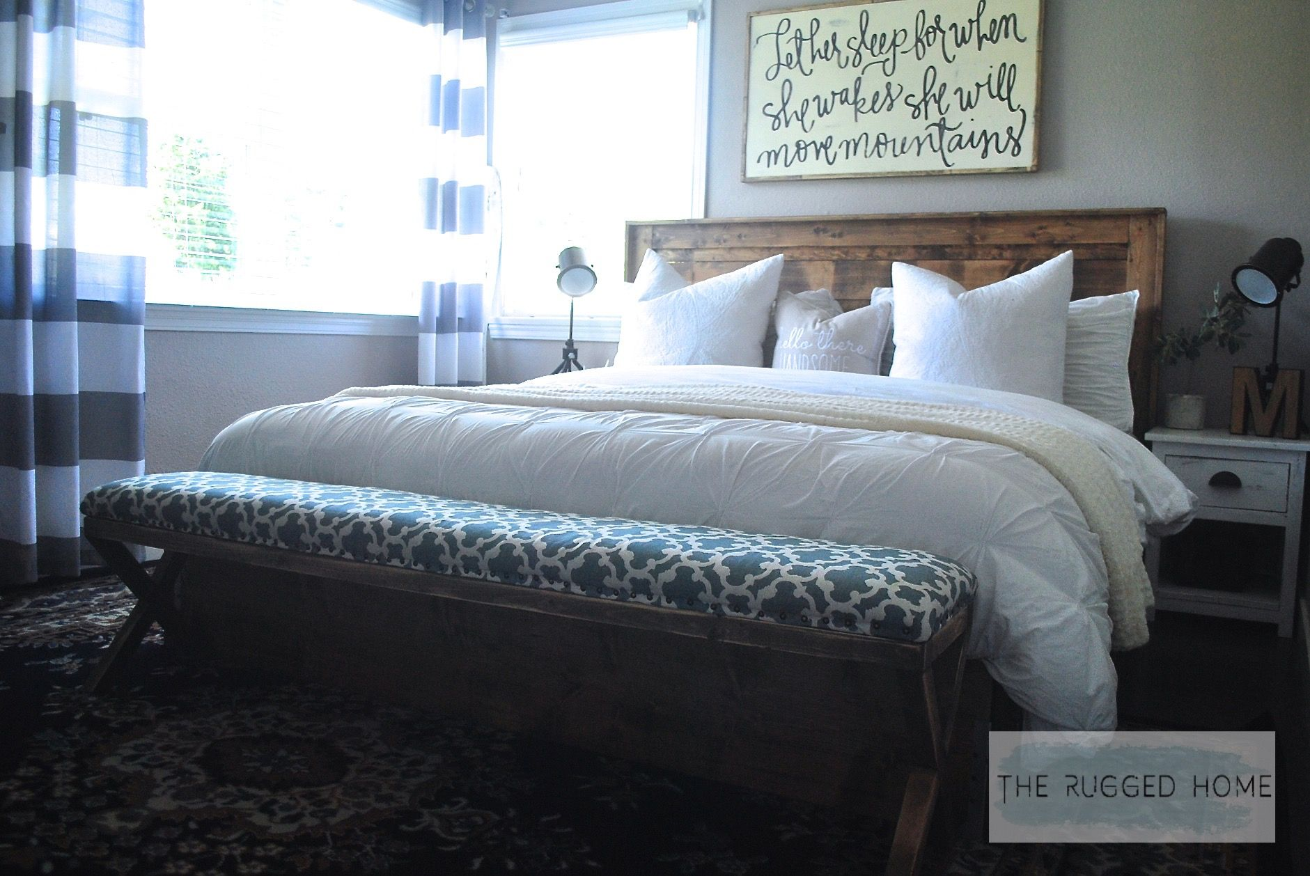 Farmhouse Bedroom, Farmhouse Master Bedroom Reveal, How To Style A Farmhouse For Cheap