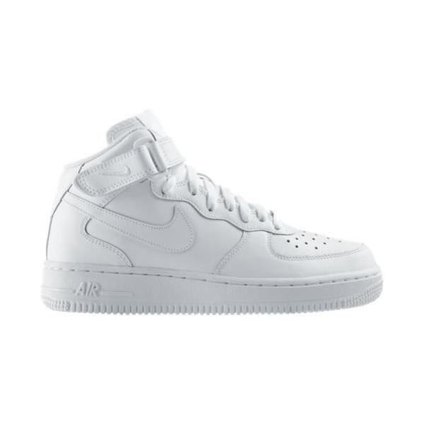 Basket Nike Air Force 1 Mid Gs Blanc éblouissante Paire De Baskets